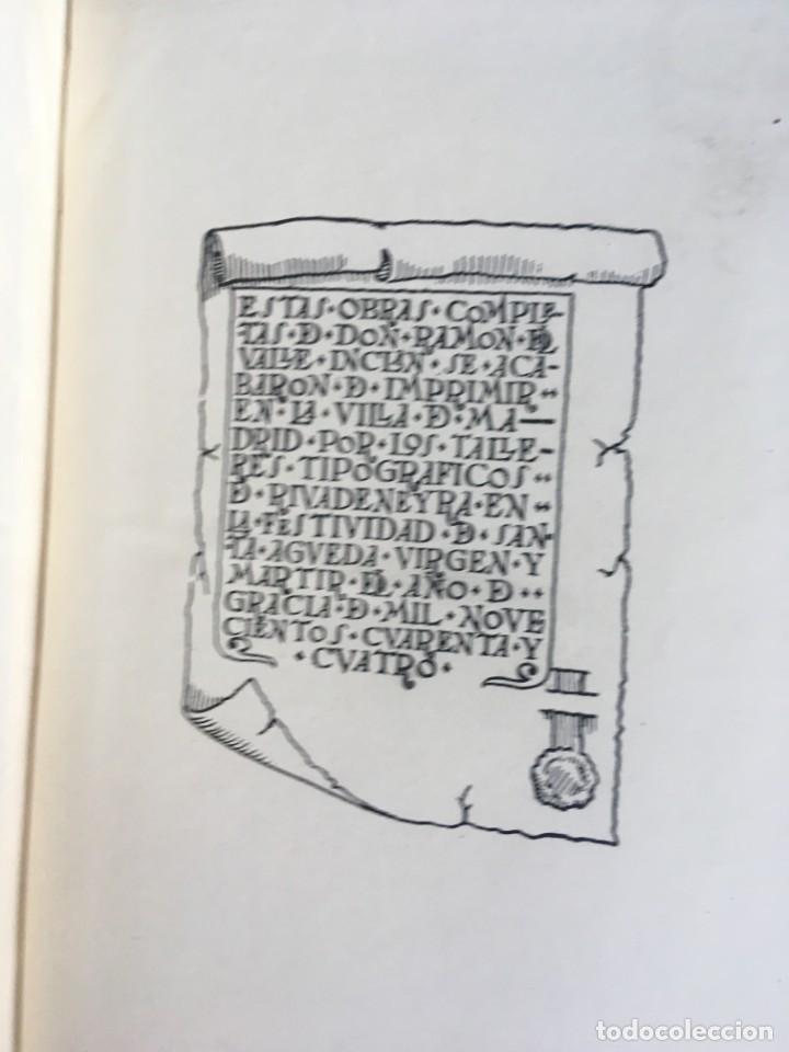 Libros de segunda mano: OBRAS COMPLETAS DE DON RAMON DEL VALLE INCLAN - TOMO II - RIVADENEYRA - ENCUADERNACIÓN PIEL - Foto 15 - 198681661