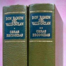 Libros de segunda mano: OBRAS ESCOGIDAS DE VALLE INCLÁN. 2 TOMOS.. Lote 199162878