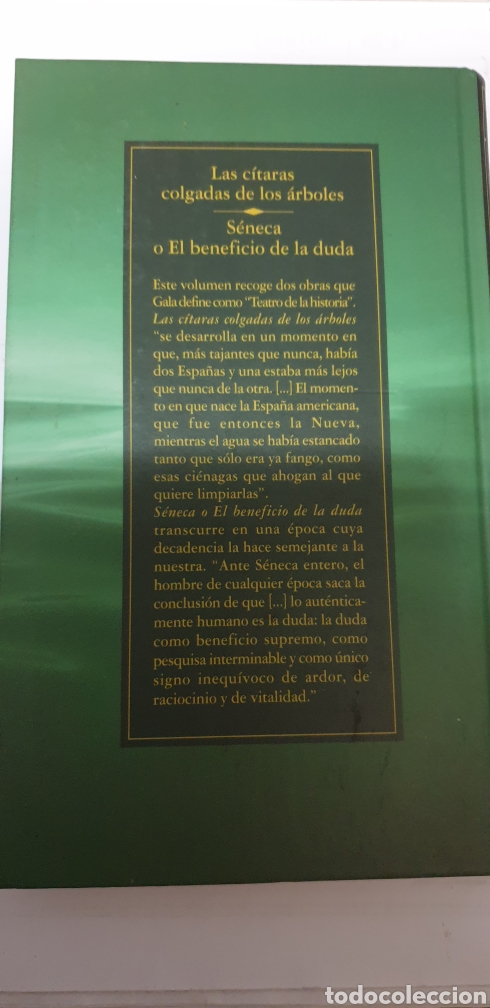 Libros de segunda mano: Antonio Gala . Las citaras colgadas de los arboles - Foto 2 - 199687576