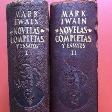 Libros de segunda mano: NOVELAS COMPLETAS Y ENSAYOS - 2 TOMOS - MARK TWAIN - AGUILAR - . Lote 199995392