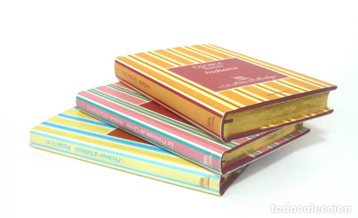 2005 - GEORGE SAND, LA FAYETTE, PIERRE LOTI - LOTE DE 3 BONITOS LIBROS FRANCESES - - CORTES DORADOS (Libros de Segunda Mano (posteriores a 1936) - Literatura - Narrativa - Clásicos)