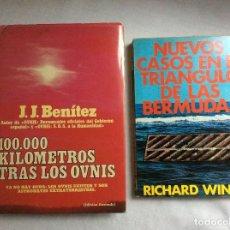 Libros de segunda mano: LOTE DE DOS LIBROS : 100000 KM. TRAS LOS OVNIS Y NUEVOS CASOS EN EL TRIANGULO DE LAS BERMUDAS. Lote 200297765