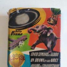 Libros de segunda mano: JULIO VERNE - CLÁSICOS DE LA JUVENTUD Nº 3 (CONQUISTADORES DEL ESPACIO) - EDITORIAL ARIMANY 1958. Lote 201554645