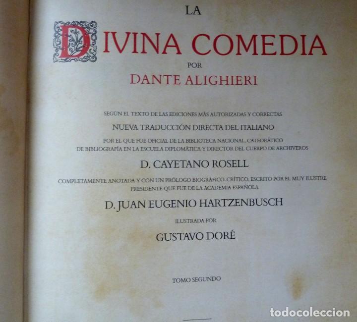 Libros de segunda mano: LA DIVINA COMEDIA - 2 TOMOS - DANTE ALIGHIERI - ED.JOVER 1991 - ILUSTRADA POR GUSTAVO DORÉ - Foto 6 - 201668391