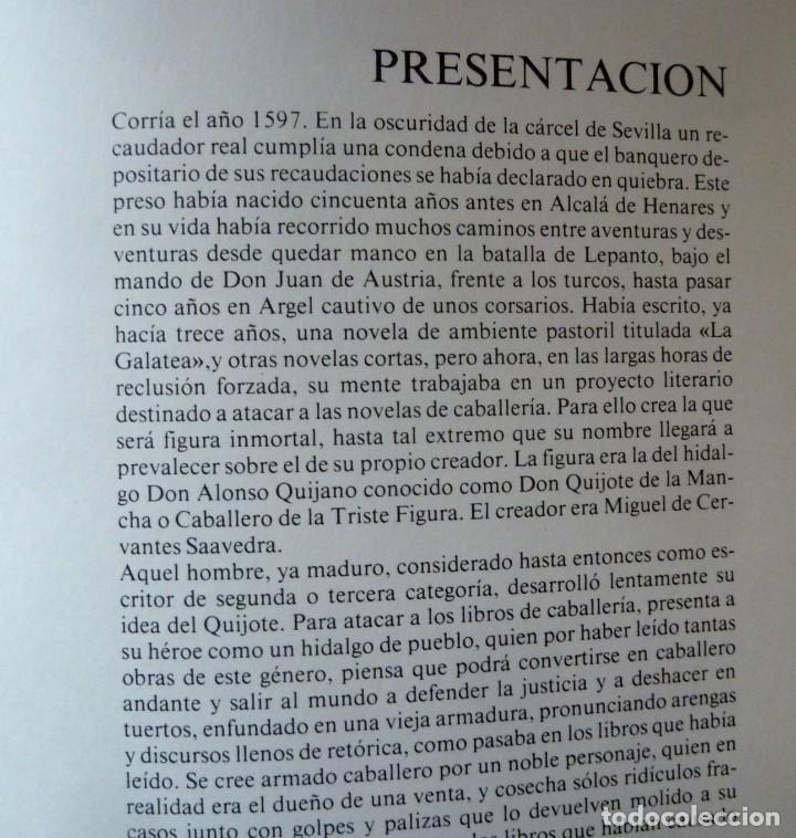 Libros de segunda mano: DON QUIJOTE DE LA MANCHA - 2 TOMOS + TOMO DE LAMINAS DE GUSTAVO DORE - Foto 8 - 201671267