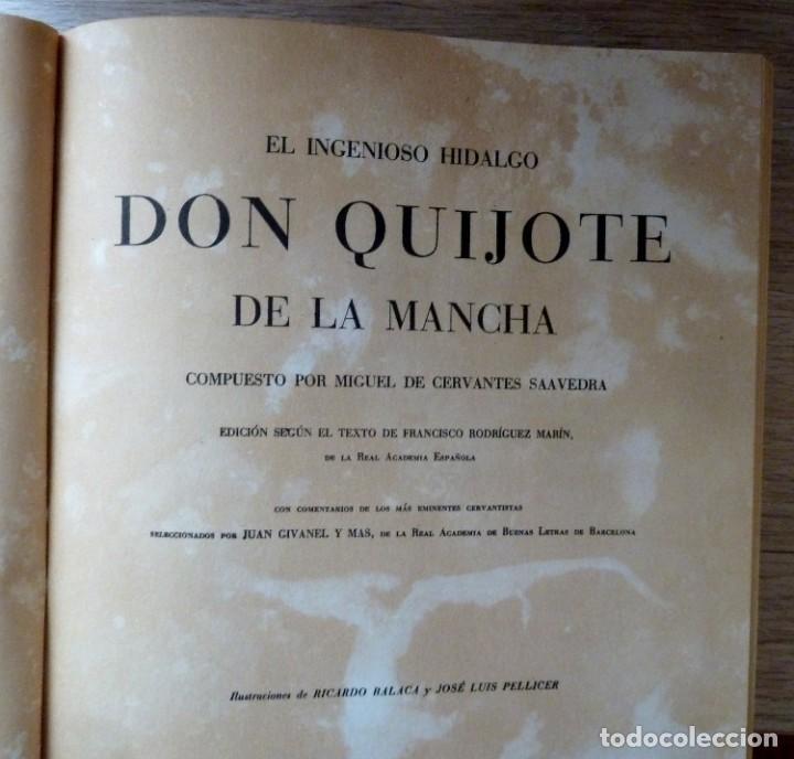 Libros de segunda mano: DON QUIJOTE DE LA MANCHA - 2 TOMOS + TOMO DE LAMINAS DE GUSTAVO DORE - Foto 5 - 201671267