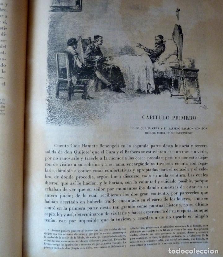 Libros de segunda mano: DON QUIJOTE DE LA MANCHA - 2 TOMOS + TOMO DE LAMINAS DE GUSTAVO DORE - Foto 10 - 201671267