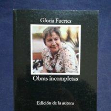 Livros em segunda mão: OBRAS INCOMPLETAS - GLORIA FUERTES - CÁTEDRA Nº 32. Lote 201739532
