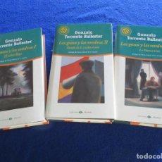Libros de segunda mano: LOS GOZOS Y LAS SOMBRAS G.TORRENTE BALLESTER 3 TOMOS ED. BIBLIOTECA EL MUNDO 2001. Lote 202738950