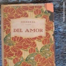 Livres d'occasion: STENDHAL, DEL AMOR, EDITORIAL PROMETEO. Lote 203056920