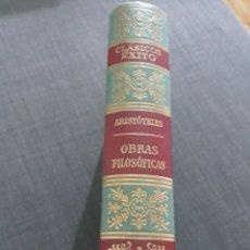 Libros de segunda mano: CLÁSICOS EXITO N° 3 . OBRAS FILOSÓFICAS ARISTOTELES .. Lote 204141172