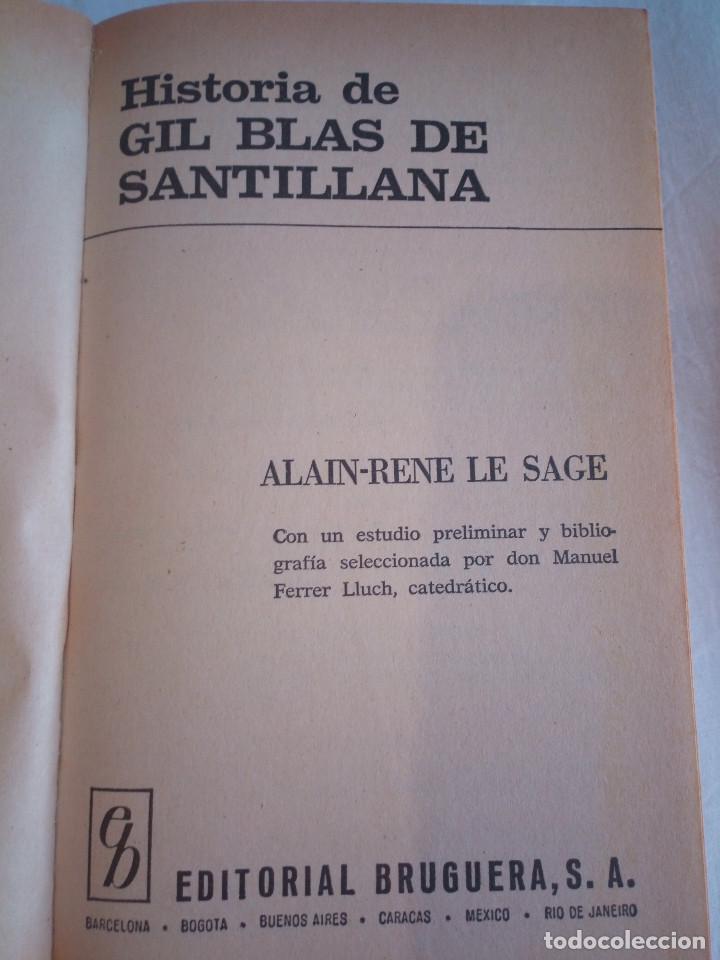 Libros de segunda mano: 10-HISTORIA DE GIL BLAS DE SANTILLANA, Alain Rene Le Sage, 1970 - Foto 3 - 204407071