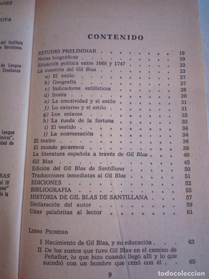 Libros de segunda mano: 10-HISTORIA DE GIL BLAS DE SANTILLANA, Alain Rene Le Sage, 1970 - Foto 6 - 204407071