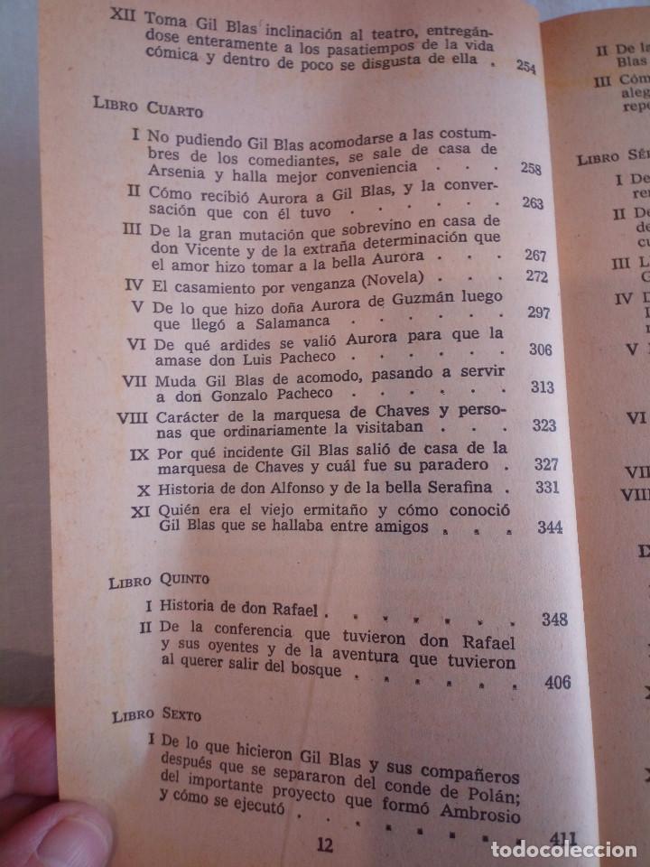 Libros de segunda mano: 10-HISTORIA DE GIL BLAS DE SANTILLANA, Alain Rene Le Sage, 1970 - Foto 9 - 204407071