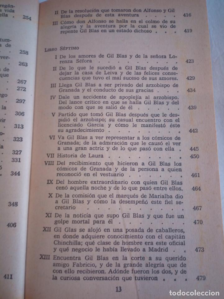 Libros de segunda mano: 10-HISTORIA DE GIL BLAS DE SANTILLANA, Alain Rene Le Sage, 1970 - Foto 10 - 204407071