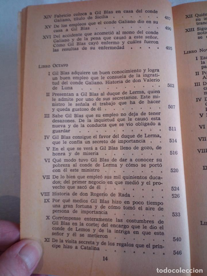 Libros de segunda mano: 10-HISTORIA DE GIL BLAS DE SANTILLANA, Alain Rene Le Sage, 1970 - Foto 11 - 204407071