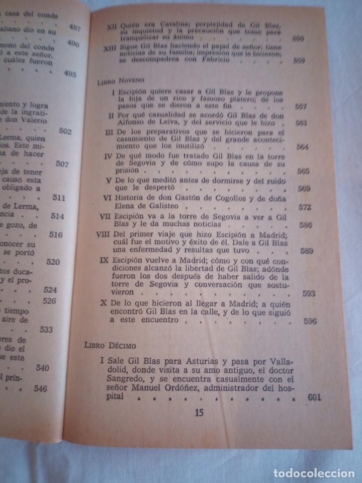 Libros de segunda mano: 10-HISTORIA DE GIL BLAS DE SANTILLANA, Alain Rene Le Sage, 1970 - Foto 12 - 204407071