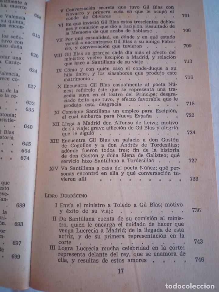 Libros de segunda mano: 10-HISTORIA DE GIL BLAS DE SANTILLANA, Alain Rene Le Sage, 1970 - Foto 14 - 204407071