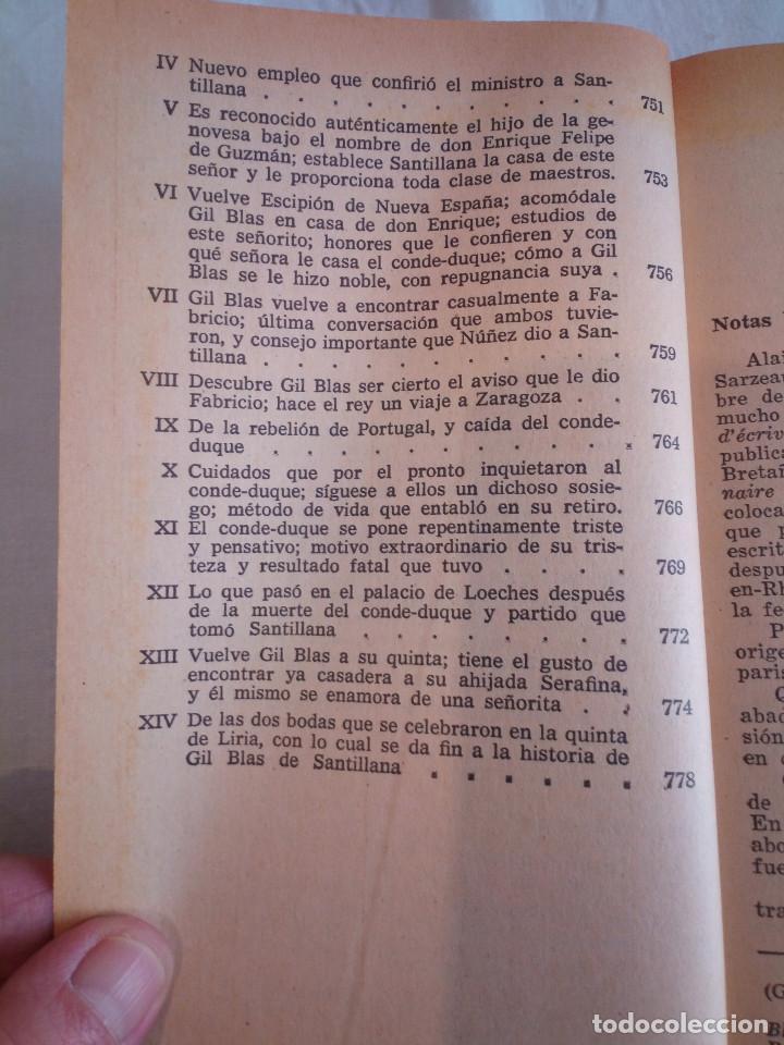 Libros de segunda mano: 10-HISTORIA DE GIL BLAS DE SANTILLANA, Alain Rene Le Sage, 1970 - Foto 15 - 204407071