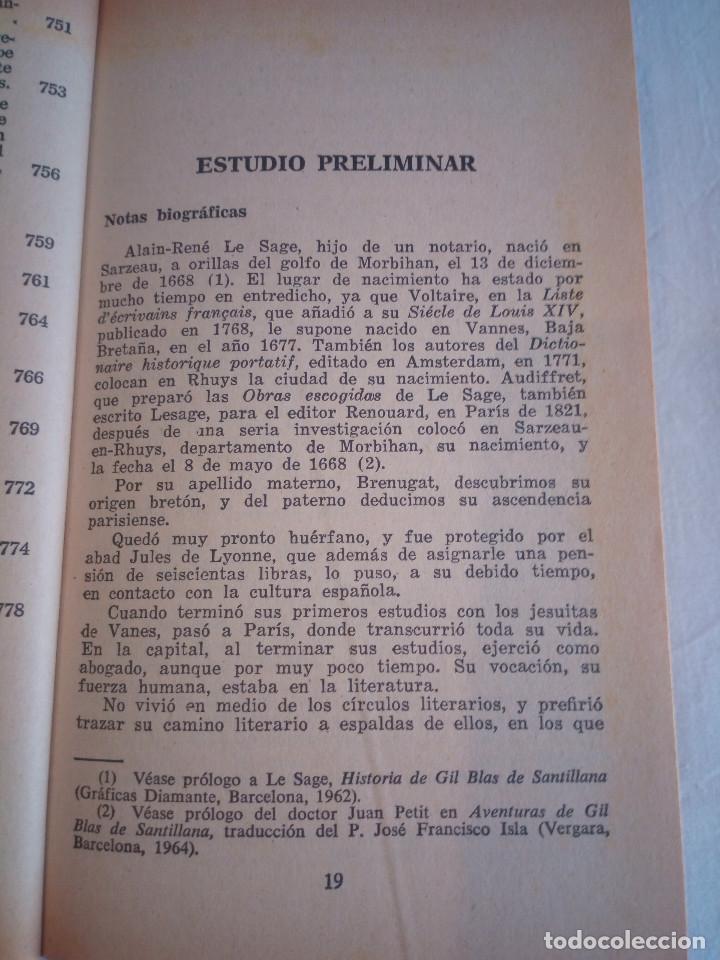 Libros de segunda mano: 10-HISTORIA DE GIL BLAS DE SANTILLANA, Alain Rene Le Sage, 1970 - Foto 16 - 204407071
