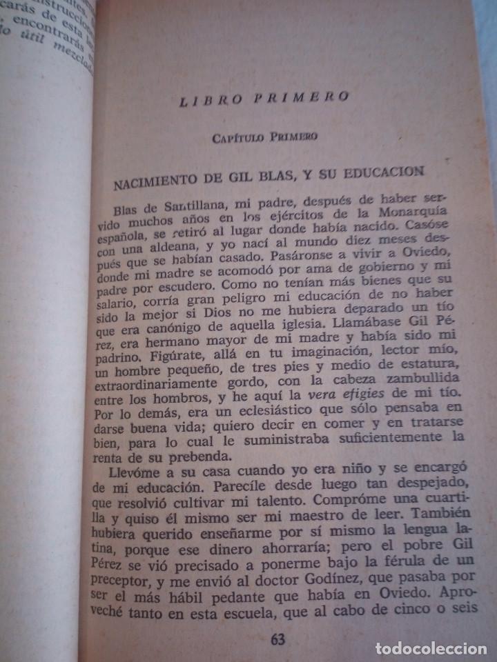 Libros de segunda mano: 10-HISTORIA DE GIL BLAS DE SANTILLANA, Alain Rene Le Sage, 1970 - Foto 17 - 204407071