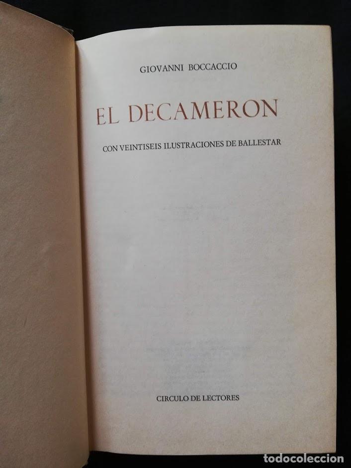Libros de segunda mano: EL DECAMERÓN - GIOVANNI BOCCACCIO - CIRCULO DE LECTORES 1969 - Foto 2 - 205397707