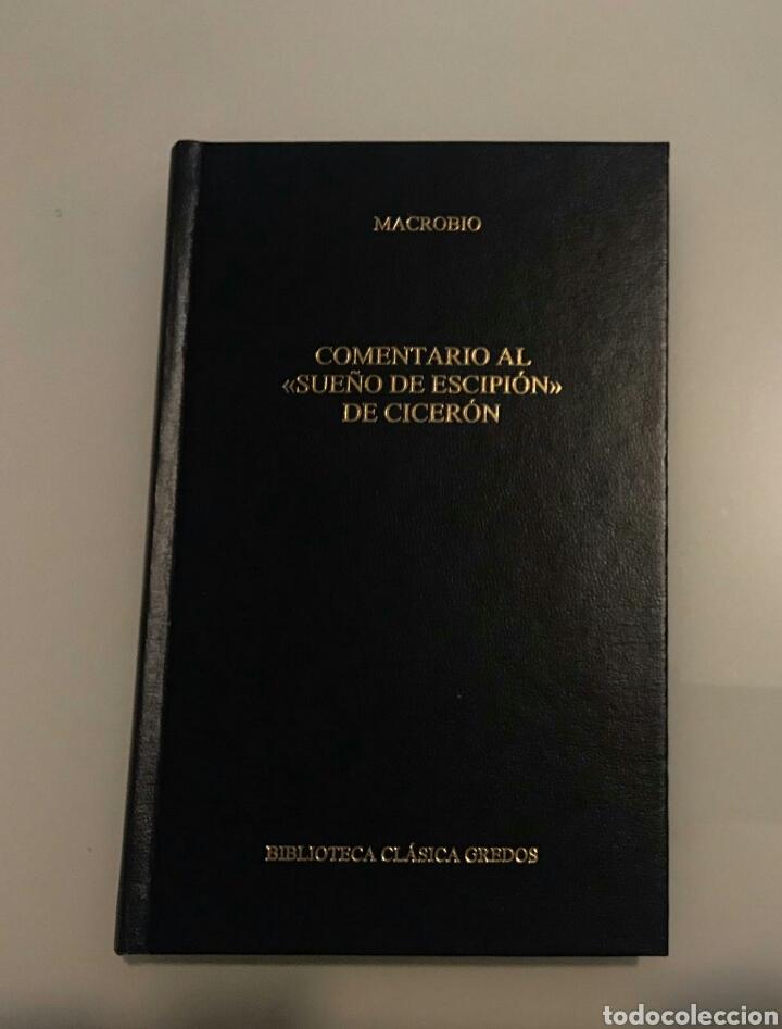 """COMENTARIO AL """"SUEÑO DE ESCIPIÓN"""" DE CICERÓN. MACROBIO. BIBLIOTECA CLÁSICA GREDOS. 351 (Libros de Segunda Mano (posteriores a 1936) - Literatura - Narrativa - Clásicos)"""