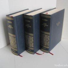 Libros de segunda mano: KAFKA. OBRAS COMPLETAS. TOMOS I, II Y III. AGUILAR. TRAD. J. PARRA, J.J. DEL SOLAR Y A. KOVACSICS.. Lote 205788856