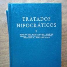Libros de segunda mano: 90 TRATADOS HIPOCRÁTICOS II. HIPÓCRATES. COLECCIÓN BIBLIOTECA CLÁSICA GREDOS. SOBRE LOS AIRES Y AGUA. Lote 205822707
