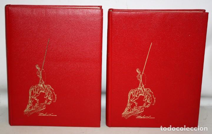 DON QUIJOTE D ELA MANCHA. ILUSTRADO POR SALVADOR DALÍ. EDITORIAL MATEU. 2 VOLUMENES. AÑO 1965 (Libros de Segunda Mano (posteriores a 1936) - Literatura - Narrativa - Clásicos)