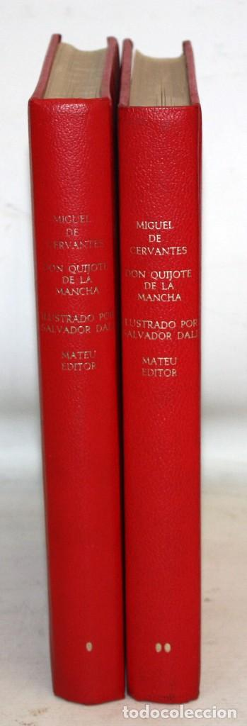 Libros de segunda mano: DON QUIJOTE D ELA MANCHA. ILUSTRADO POR SALVADOR DALÍ. EDITORIAL MATEU. 2 VOLUMENES. AÑO 1965 - Foto 2 - 205882402