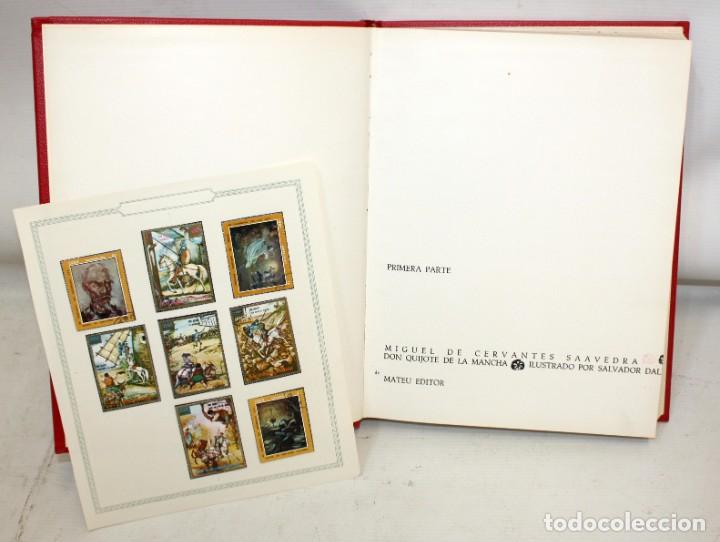 Libros de segunda mano: DON QUIJOTE D ELA MANCHA. ILUSTRADO POR SALVADOR DALÍ. EDITORIAL MATEU. 2 VOLUMENES. AÑO 1965 - Foto 4 - 205882402