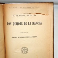 Libros de segunda mano: EL INGENIOSO HIDALGO DON QUIJOTE DE LA MANCHA. CERVANTES. CASA EDITORIAL SOPENA. Lote 206016823
