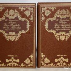 Libros de segunda mano: DON QUIJOTE DE LA MANCHA. ILUSTRACIONES DE RICARDO BALACA Y JOSÉ LUIS PELLICER. 2 TOMOS. Lote 206116582