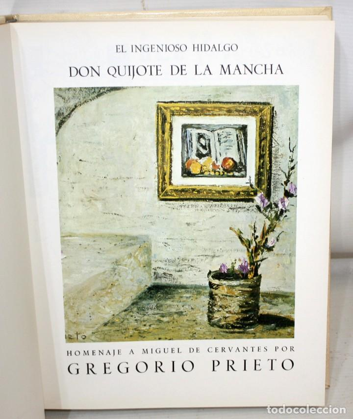 Libros de segunda mano: DON QUIJOTE DE LA MANCHA. CERVANTES. ILUSTRADO POR GREGORIO PRIETO. ED. DESCLÉE DE BROUWER. 2 TOMOS - Foto 6 - 206117295