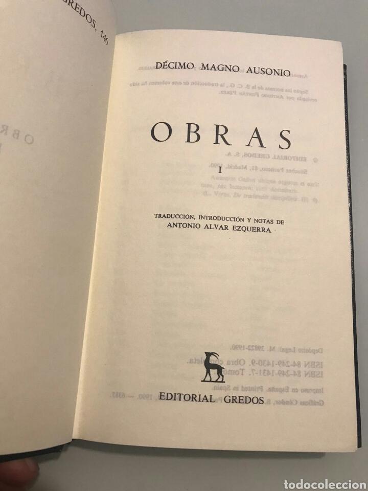 Libros de segunda mano: Decimo Magno Ausonio. Obras I. Num 146. Biblioteca clasica Gredos - Foto 2 - 206408643
