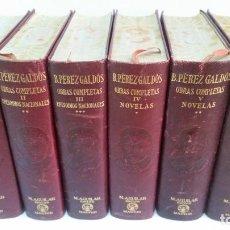 Libros de segunda mano: 1941 - BENITO PEREZ GALDÓS - OBRAS COMPLETAS. 6 TOMOS - AGUILAR ETERNAS. Lote 206776691