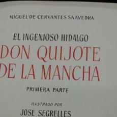 Libros de segunda mano: EL INGENIOSO HIDALGO DON QUIJOTE DE LA MANCHA DE CERVANTES ILUSTRADO POR JOSE SEGRELLES MADRID 1966. Lote 207083843