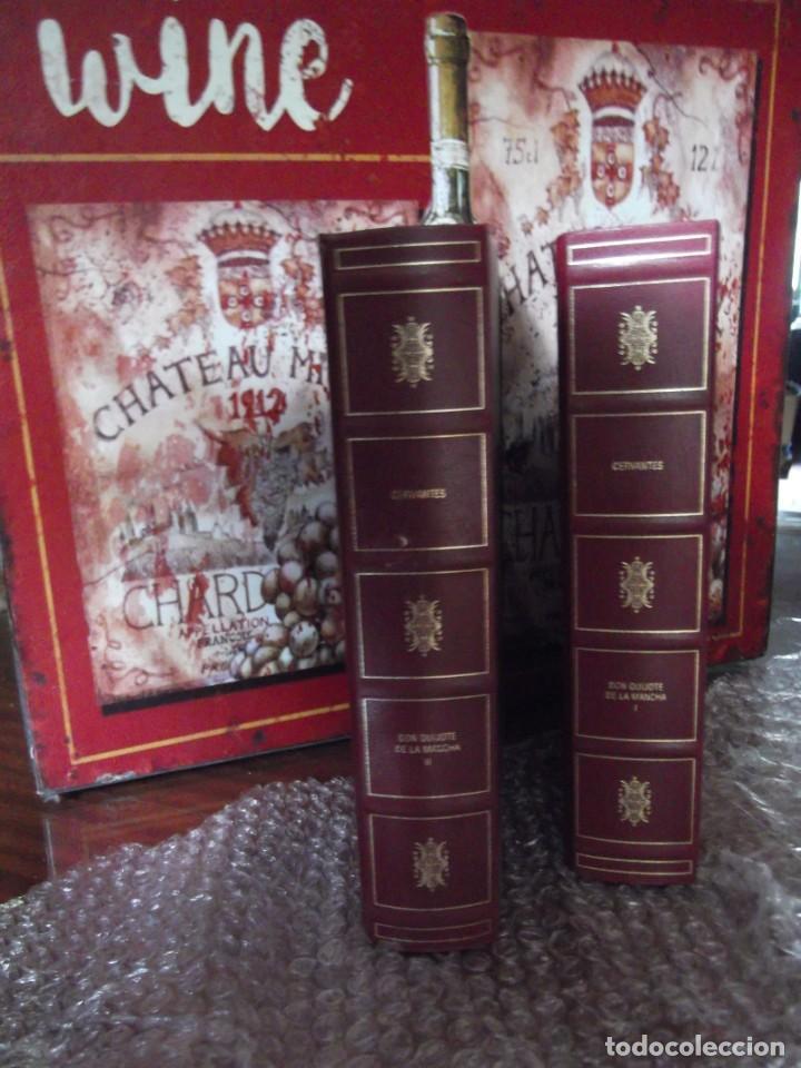 LOS 2 TOMOS DE DON QUIJOTE DE LA MANCHA DE CERVANTES , MAGNÍFICOS LIBROS EN 2 TOMOS (Libros de Segunda Mano (posteriores a 1936) - Literatura - Narrativa - Clásicos)