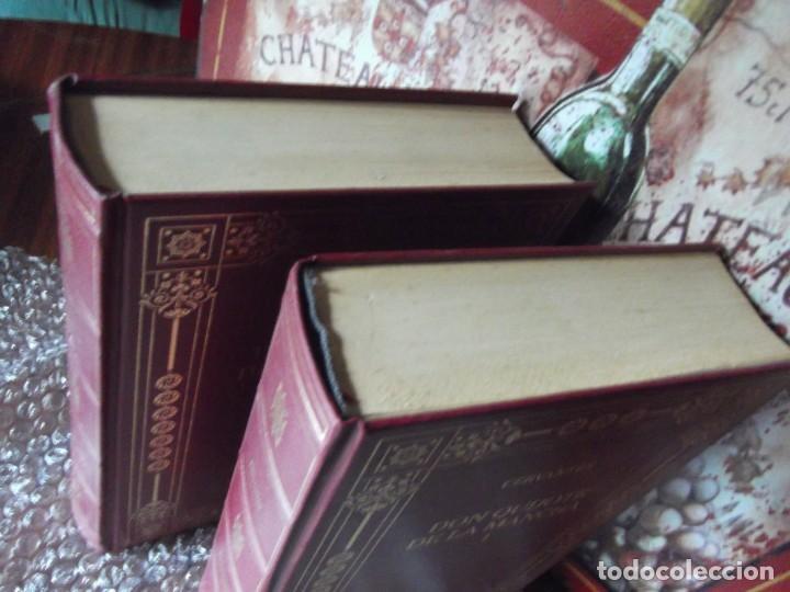 Libros de segunda mano: Los 2 Tomos de Don Quijote de la Mancha de Cervantes , magníficos Libros en 2 tomos - Foto 5 - 207092033