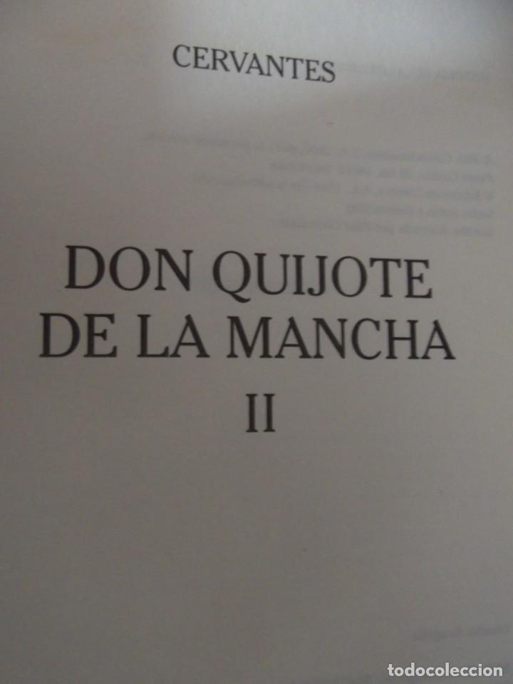 Libros de segunda mano: Los 2 Tomos de Don Quijote de la Mancha de Cervantes , magníficos Libros en 2 tomos - Foto 6 - 207092033