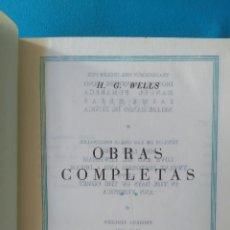 Libros de segunda mano: H. C. WELLS OBRAS COMPLETAS - TOMO II. Lote 207957127