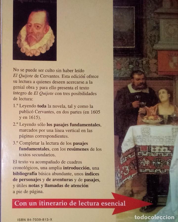Libros de segunda mano: MIGUEL DE CERVANTES - DON QUIJOTE DE LA MANCHA - CASTALIA, 2000 [EDICIÓN DIDÁCTICA] - Foto 2 - 170985013