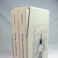 Libros de segunda mano: DON QUIJOTE DE LA MANCHA. FACSIMIL EN 2 TOMOS DE LA ED. DE A. SANZ EN 1735. 102 ILUST DE FELIX OLIVA. Lote 208451585