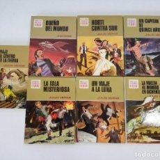 Livres d'occasion: INTERESANTE COLECCIÓN DE 7 LIBROS DE LA COLECCIÓN HISTORIAS COLOR, SERIE JULIO VERNE, BRUGUERA, 1972. Lote 208569092