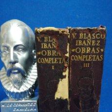 Livres d'occasion: V. BLASCO IBÁÑEZ, OBRAS COMPLETAS. AGUILAR. 2 TOMOS. 1961. Lote 208823801