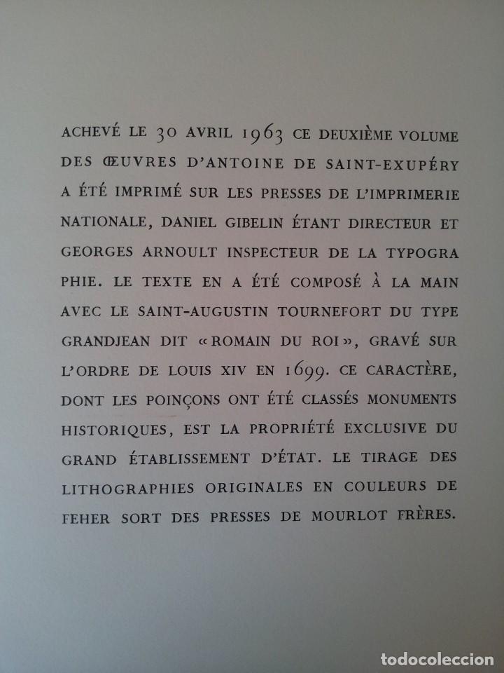 Libros de segunda mano: ANTOINE DE SAINT-EXUPERY - OBRAS COMPLETA 5 TOMOS, IMPRIMERIE NATIONALE NOUVELLE LIBRAIRIE DE FRANCE - Foto 8 - 209176795