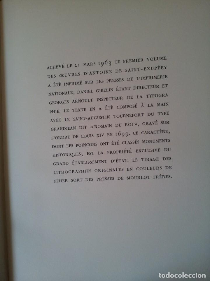 Libros de segunda mano: ANTOINE DE SAINT-EXUPERY - OBRAS COMPLETA 5 TOMOS, IMPRIMERIE NATIONALE NOUVELLE LIBRAIRIE DE FRANCE - Foto 18 - 209176795