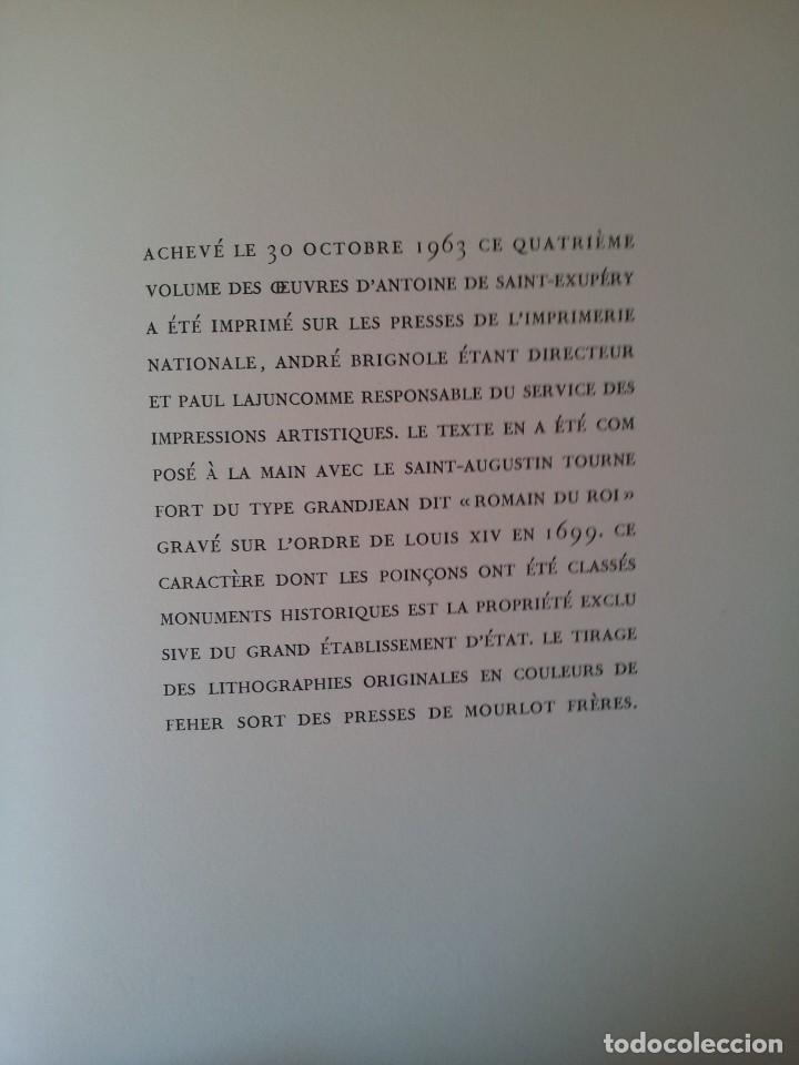 Libros de segunda mano: ANTOINE DE SAINT-EXUPERY - OBRAS COMPLETA 5 TOMOS, IMPRIMERIE NATIONALE NOUVELLE LIBRAIRIE DE FRANCE - Foto 22 - 209176795