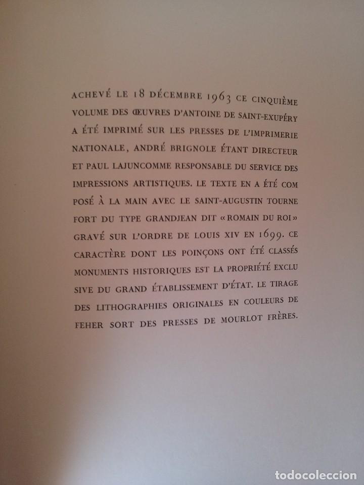 Libros de segunda mano: ANTOINE DE SAINT-EXUPERY - OBRAS COMPLETA 5 TOMOS, IMPRIMERIE NATIONALE NOUVELLE LIBRAIRIE DE FRANCE - Foto 26 - 209176795